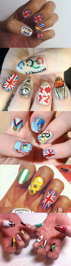 The Best Nail Art Designs Featuring The London Olympic Games 2012