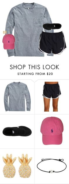 """ootd, it was soo warm today!!☀️"" by smbprep ❤ liked on Polyvore featuring Vineyard Vines, NIKE, Polo Ralph Lauren and Lilly Pulitzer"