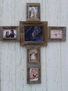 DIY old barn wood picture frame