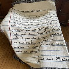 Love Letter Blanket: Personalized Gift for Mom Woven | Etsy Reason Quotes, Personalized Fathers Day Gifts, Letter To Yourself, Kids Blankets, Custom Writing, Handwritten Letters, Queen, Note To Self, Meaningful Gifts
