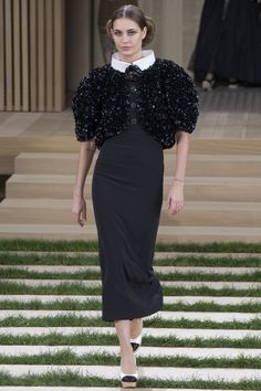 I want SWINTON to wear this with a full length skirt. Chanel Spring 2016 Couture Fashion Show