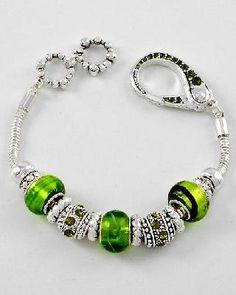 European Style Glass Pandora Bracelet