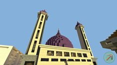 Minecraft Mosque #architecture #muslim #islam #mosque #dome #minecraft #masjid