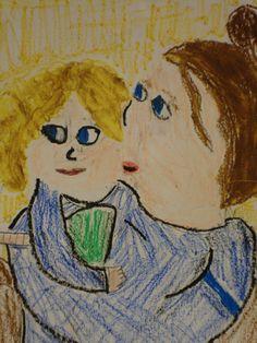 Fourth grade art in the style of Mary Cassatt