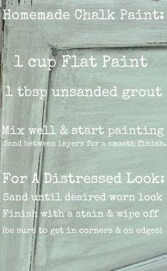 Mini Mint & Homemade Chalk Paint mint gala valspar.