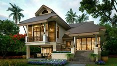 Village House Design, Village Houses, Big Houses, Stilt House Plans, House On Stilts, Zombie Drawings, Thai House, Water Storage, French Country House