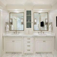 Master Bathroom Vanity With Tower Vanities Storage Towers Cabinets
