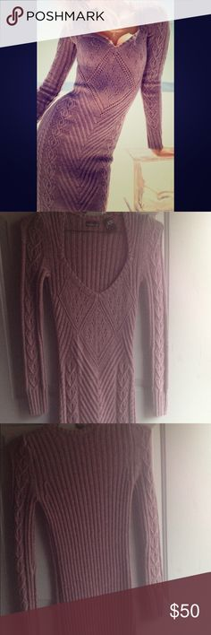 Victoria Secret Sexy Sweater Dress! Very Sexy Purple Sweater Dress! Super cozy and cute just perfect for the holidays! It does have some stretch to t but only worn once! Pairs well with ankle boots and heels!! Victoria's Secret Dresses Long Sleeve