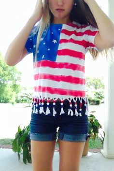 Fourth of July shirt! So easy to make! #diy
