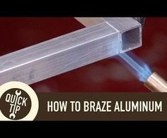 "A beginner's guide to ""welding"" (brazing) aluminum with alumiweld rods. Links to the Tools and Materials Leah Uses in This Video: Alumiweld Brazing Rods: htt. Shielded Metal Arc Welding, Metal Welding, Welding Art, Aluminum Welding Rods, Welding Helmet, Aluminum Cans, Metal Projects, Welding Projects, Vintage Industrial Furniture"