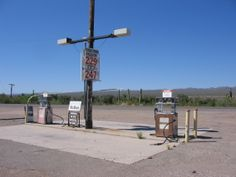 Abandoned Gas Staion Pumps in Hayden Arizona