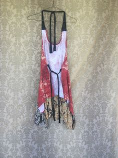 Funky Tattered Boho Floral Halter by CreoleSha on Etsy