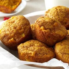 Apple Pumpkin Muffins Recipe -The combination of apples and pumpkin makes this recipe a perfect treat for cool autumn day. The muffins are great for breakfast or dessert. —Beth Knapp, Littleton, New Hampshire
