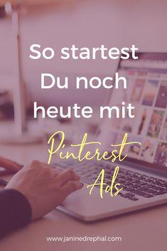 Pinterest für Unternehmen? Pinterest war bisher nicht gerade als starke Marketingplattform bekannt. Dies ändert sich nun, denn nun kann man auch in Deutschland Pinterest Ads (Werbeanzeigen) schalten. Content Marketing, Social Media Marketing, Rest, Blog, Advertising, Advertising Ads, Target Audience, Earn Money, Things To Do