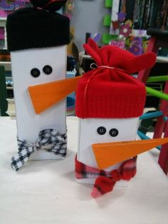 Decorate with snowmen all winter long! Available at Get Pinned!