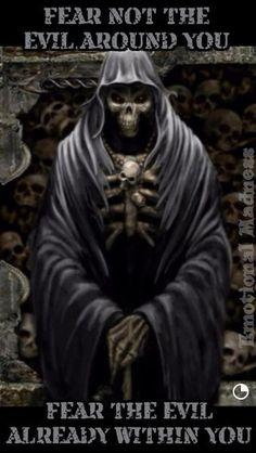 Fear not the evil www.wearethebikerstore.com | Leather, Skull, Bikers, Fashion, Men, Women, Home Decor, Jewelry, Acccessory.