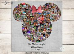 MAGICAL VACATION- Minnie Mouse, Disney Photo Album, Family Trip to Disney World, Disney Family Vacation, Disney Valentines Photo Album Mickey Mouse Christmas, Minnie Mouse, Mouse Ears, Disney World Vacation, Disney Vacations, Disney Photo Album, Mickey Mouse Decorations, Shape Collage, Focus Images