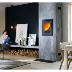 De #Contura Ci4 is een inbouw #houthaard waarbij het design in een eigen stijl is opgezet. #Houtkachel  #Kampen #Fireplace #Fireplaces #Interieur #Kachelplaats