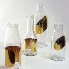 Tomas Kral glass jars  gold