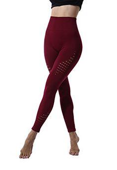Lapasa Legging Femme Pantalon de Sport Yoga Fitness Gym Pilates Taille Haute  Gaine Large L01  07c7b40c9a2