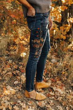 Embroidered Skinny Jeans | ROOLEE