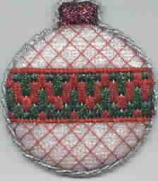 Bargello Christmas ornament, needlepoint, stitched by my daughter ...