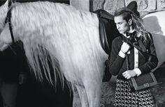 Alice Dellal for the Chanel Boy Campaign SS 2013 l #horse