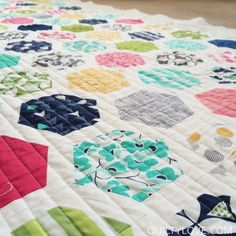 Hexi jelly roll quilt pattern. Isn't it gorgeous?!