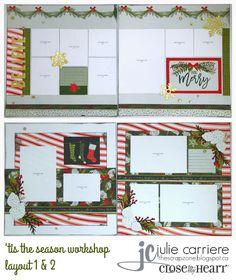 The Scrap Zone: 'Tis the Season Shaker Christmas Card Workshop