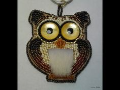 Bead embroidery owl