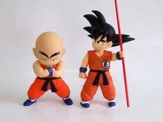 Pack 2 figuras Goku y Krilin 25 cms. Dragon Ball Z