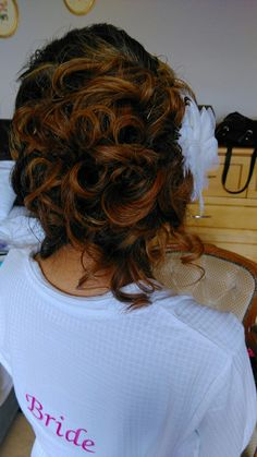 Wedding hairstyles upstyles by noreen Hair Upstyles, Wedding Hairstyles, Dreadlocks, Bridal, Beauty, Medium Wedding Hairstyles, Beleza, Dreads, Bride