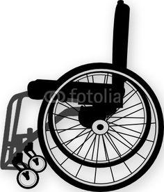 Vector: wheelchair illustration