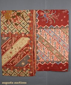 Augusta Auctions, May 2007 Vintage Clothing & Textile Auction, Lot 316: Batik Sarong Fabric, Java, C. 1930