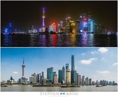 Shanghai, by day and by night.