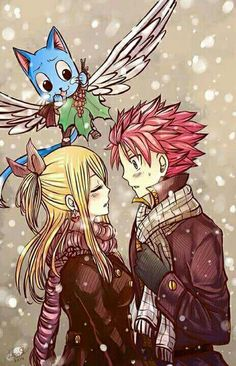 Natsu, Lucy, Nalu, Happy, Fairy Tail