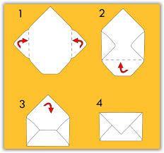 Risultati immagini per come fare busta di carta