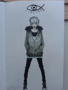 Frey from Fisheye placebo. Selfmade drawing.  ~Wow! This is really nice.