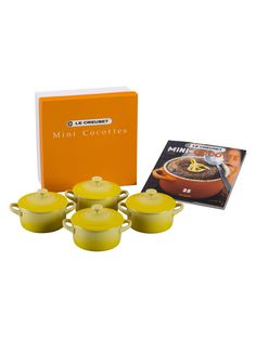Le Creuset Cocottes with Mini-Cocotte Cookbook Set (9 PC)
