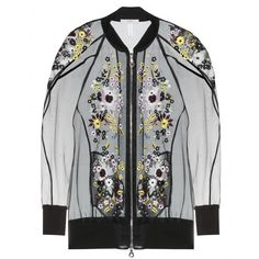 Erdem - Dani embroidered silk-blend organza bomber jacket - Erdem's delicate embroidered silk-blend organza jacket is an exquisite take on the classic bomber. Keep the rest of your look pared down - a simple tee or prom dress is all it requires. seen @ www.mytheresa.com