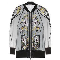 mytheresa.com - Dani embroidered silk-blend organza bomber jacket - casual - jackets - clothing - Luxury Fashion for Women / Designer clothi...