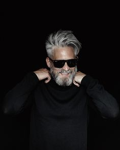 Model Swede grey hair beard man male manly fit over 40 grey silverfox silver. - Model Swede grey hair beard man male manly fit over 40 grey silverfox silver posing photography - Beard Styles For Men, Hair And Beard Styles, Grey Hair Men, Black Hair, Beard Makeup, Mature Mens Fashion, Older Mens Hairstyles, Beard Model, Photography Poses For Men