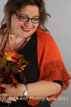 Pumpkin Patch Shawl Knitting Pattern by OneHandKnits - purchase at http://www.ravelry.com/patterns/library/pumpkin-patch-4 #knitting #knitwear #knit