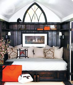Daybed - Style At Home....who wouldn't want to curl up and read a book on this daybed on a snow day!  love it!!!