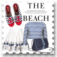 """""""Let's go to the beach"""" by busta on Polyvore; Featuring the Grey Bumblebee crossbody bag from BÙSTA #busta #bustabags #leatherbag #leather #streetstyle #blue #embroidery #folklore #handmade #crossbody #leathercrossbody #metalchain"""