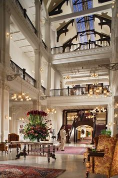 Raffles Hotel Singapore - this hotel is so beautiful.  I didn't get to stay here but my president did at the time.  I was down the street at the Hilton LOL!