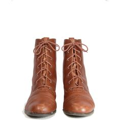 Size 9 Brown Leather Lace Up Ankle Boots Tall Ankle Boots Leather Lace... (2.010 UYU) ❤ liked on Polyvore featuring shoes, boots, brown leather lace-up boots, tall brown boots, short boots, wingtip boots and ankle boots