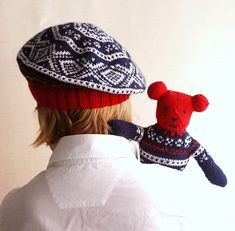 Norwegian Red White and Blue Tam PDF Knitting Pattern by byEline, $5.49