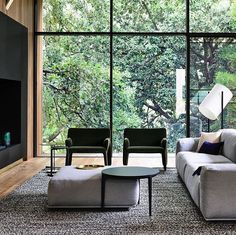 """177 Likes, 7 Comments - @meizai_au on Instagram: """"Living room in the trees, Ivanhoe. The latest project by Auhaus Architecture and styled by the…"""""""