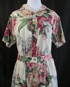 Red Ridge Mountain Outfitters Top And Maxi Skirt Set Med Floral Cotton  #RedRidgeMountainOutfitters #FullFlaredSkirt